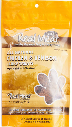 Real Meat Dog Treats Chicken & Venison - 4oz
