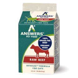 Answers Detailed Raw Cat Food Beef 1lb