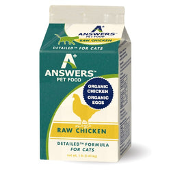 Answers Detailed Raw Cat Food Chicken 1lb