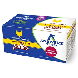 Answers Detailed Raw Dog Food Chicken Patties 4lb