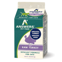 Answers Detailed Raw Cat Food Turkey 1lb