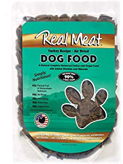 Real Meat Dog Food Air-Dried Turkey - 2lb
