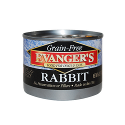 Evanger's Canned Dog Food Rabbit - 6oz