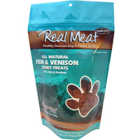 Real Meat Dog Treats Fish & Venison - 12oz