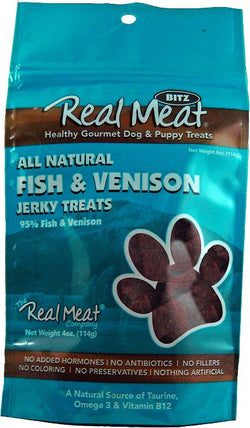 Real Meat Dog Treats Fish & Venison - 4oz