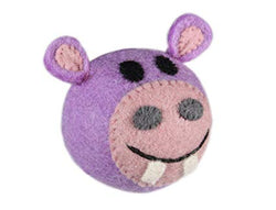 Wooly Wonkz Dog Toy Hippo - Medium