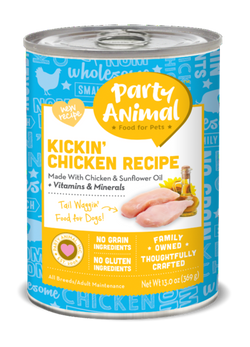 Party Animal Dog Food Kickin' Chicken - 13oz