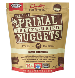 Primal Raw Freeze-Dried Dog Food Lamb - 14oz