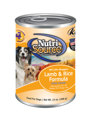 NutriSource Canned Dog Food Lamb & Rice - 13oz