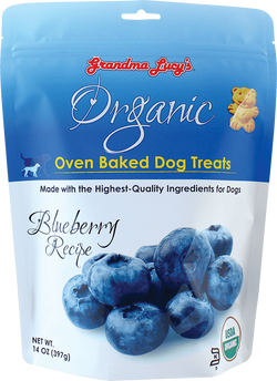 Grandma Lucy's Organic Oven Baked Dog Treat's Blueberry Recipe 14 oz