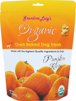 Grandma Lucy's Organic Oven Baked Dog Treat's Pumpkin Recipe 14 oz