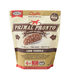 Primal Raw Dog Food Lamb Pronto - 4lb