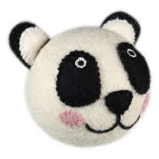 Wooly Wonkz Dog Toy Panda - Medium
