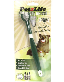 PetzLife Oral Care 3-Sided Toothbrush