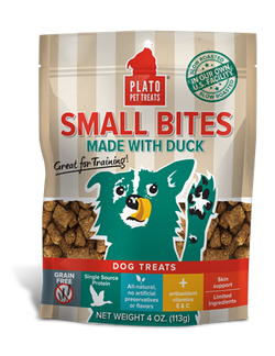 Plato Pet Treats Small Bites Duck - 4oz