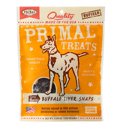 Primal Dog Treats Buffalo Liver - 4oz