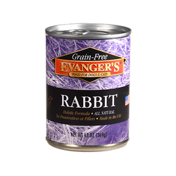 Evanger's Canned Dog Food Rabbit - 12.8oz