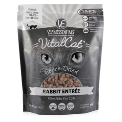 Vital Essentials Freeze-Dried Rabbit Nibs Cat Food - 12oz