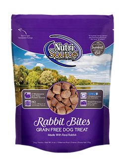 NutriSource Grain Free Dog Treats Rabbit - 6oz