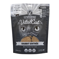 Vital Essentials Freeze-Dried Cat Food Rabbit Patties - 8oz