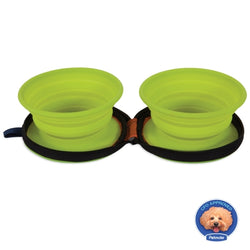 Petmate Duo Travel Pet Bowls - Medium