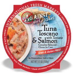Against the Grain Cat Food Tubs Toscano Salmon