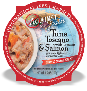 Against the Grain Cat Food Tubs Toscano Salmon 3.5 oz