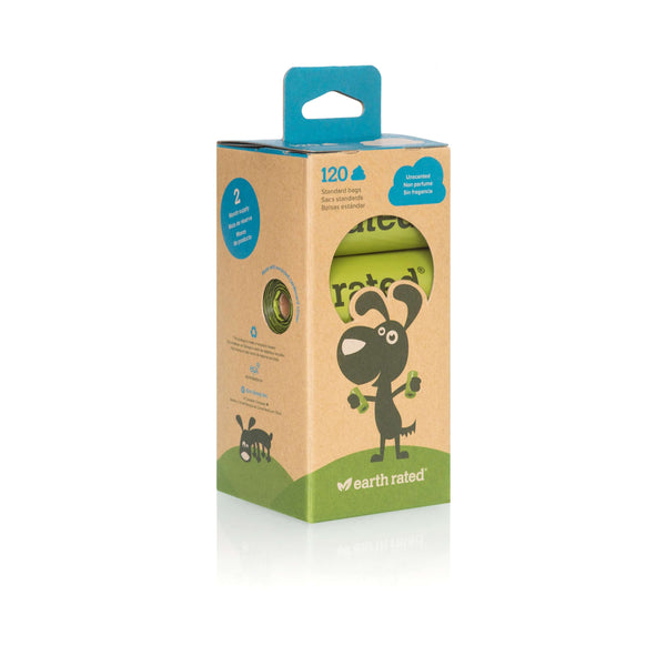 Earth Rated Poop Bags Unscented 120 ct
