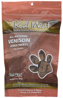 Real Meat Dog Treats Venison - 12oz