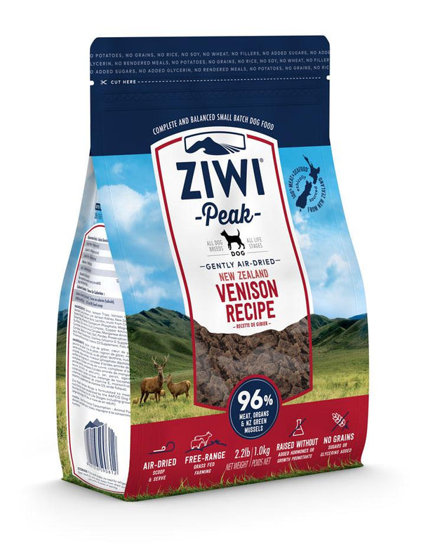 Ziwi Peak Air-Dried Dog Food Venison - 2.2lb