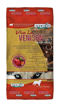 Addiction Dog Food Viva La Venison - 20lb