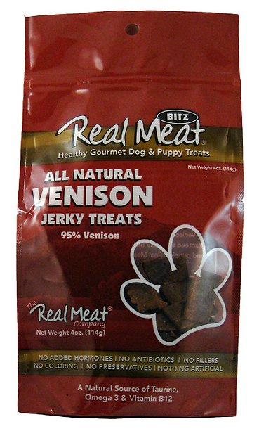 Real Meat Dog Treats Venison - 4oz