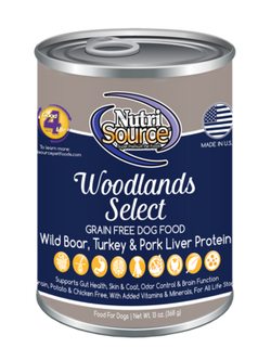 NutriSource Canned Dog Food Woodlands Select - 13oz