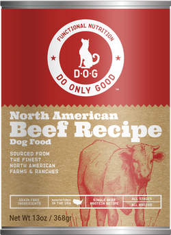 Do Only Good (D.O.G.) Canned Dog Food Beef -13oz