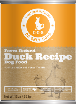 Do Only Good (D.O.G.) Canned Dog Food Duck -13oz