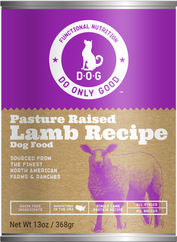 Do Only Good (D.O.G.) Canned Dog Food Lamb -13oz