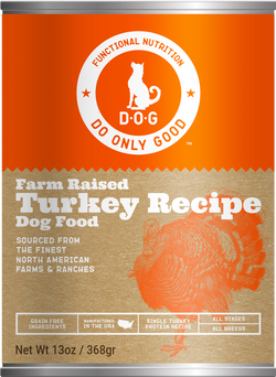 Do Only Good (D.O.G.) Canned Dog Food Turkey -13oz
