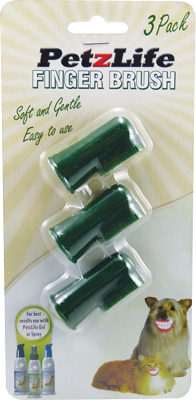 PetzLife Oral Care Finger Brushes - 3 Pack