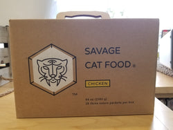 Savage Raw Cat Food Chicken Large 5.25 # - 28/Case