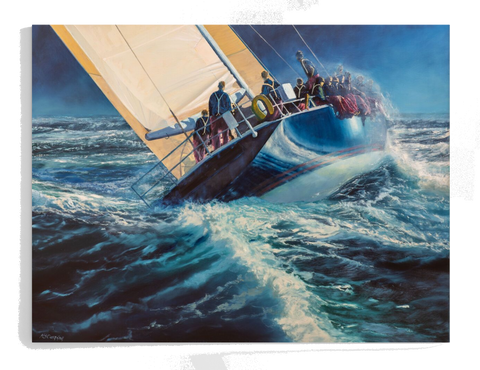 Sailing into the Unknown - Print op Canvas