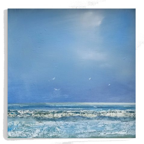 Ocean view from Ile de Ré - Print op Canvas