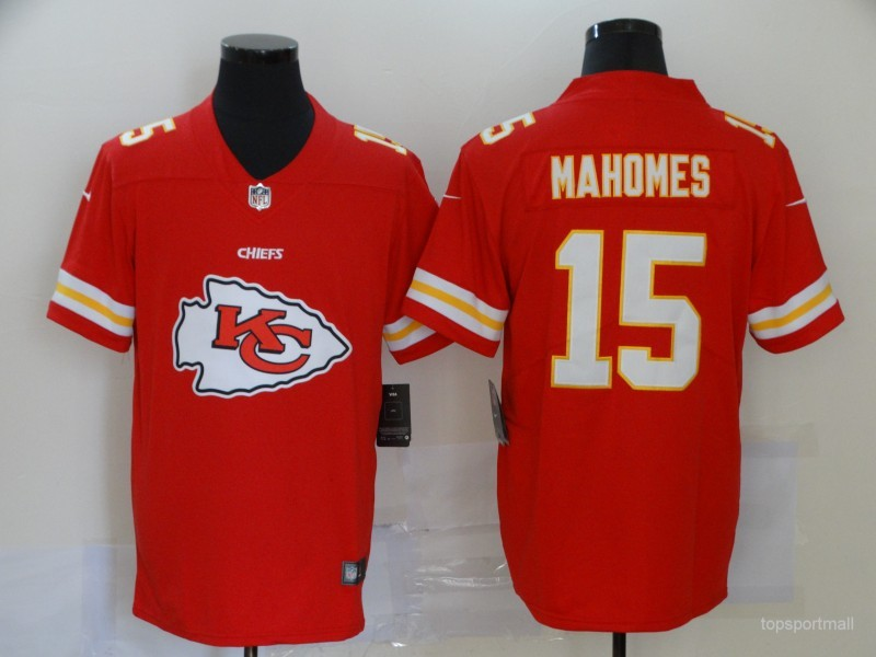Men's Kansas City Chiefs Patrick Mahomes Red Game Player Jersey
