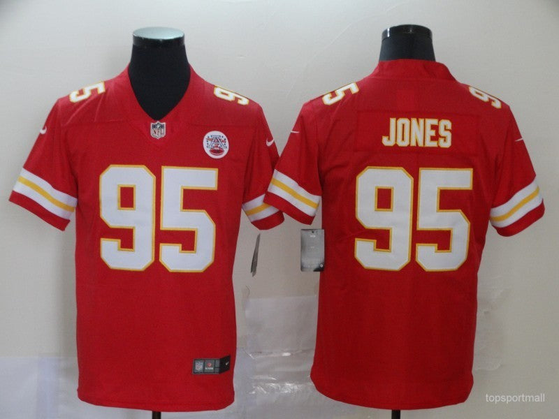 Men's Kansas City Chiefs Chris Jones  Red Game Player Jersey