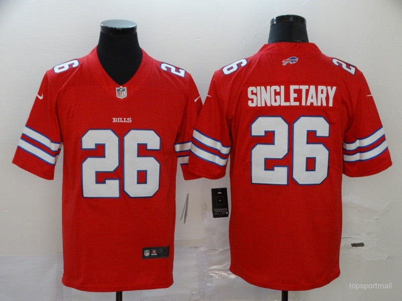 Men's Buffalo Bills Devin Singletary Red Game Player Jersey