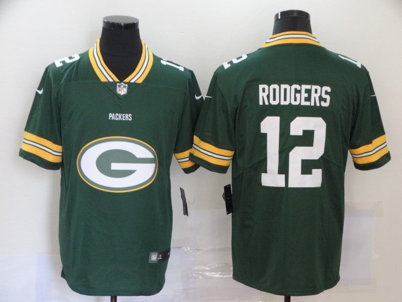 Men's Green Bay Packers Aaron Rodgers Green Game Player Jersey