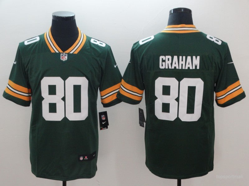 Men's Green Bay Packers Jimmy Graham Green Game Jersey