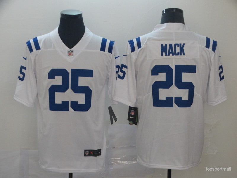 Men's Indianapolis Colts Marlon Mack White Game Player Jersey