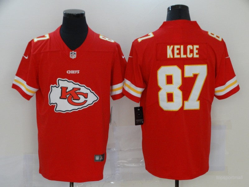 Men's Kansas City Chiefs Travis Kelce Red Game Player Jersey