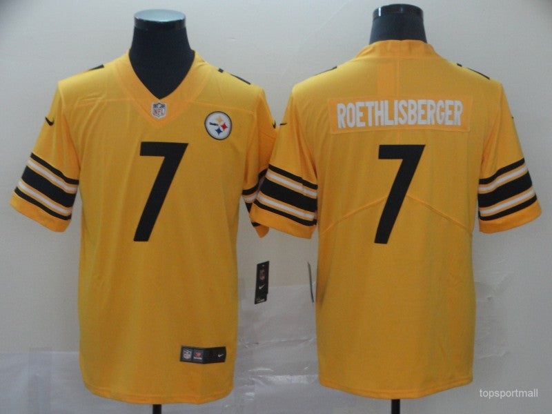 Men's Pittsburgh Steelers Ben Roethlisberger Yellow Game Player Jersey