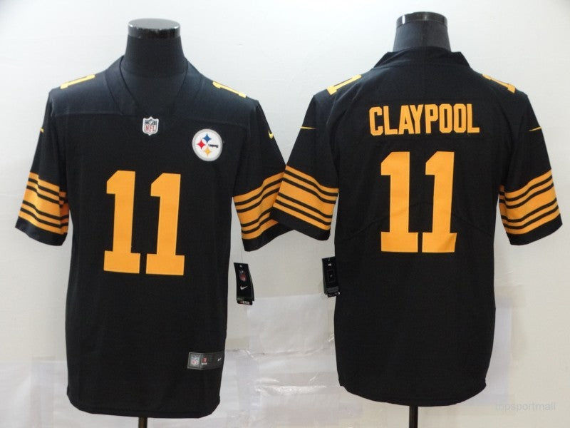 Men's Pittsburgh Steelers Chase Claypool Black Player Game Jersey